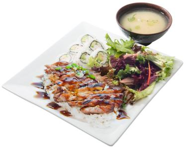 Chicken &  Cali. Roll Bento