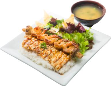 Shrimp & Chicken Bento