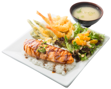Salmon & Tempura Bento