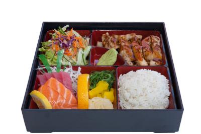 Sashimi With Chicken Teriyaki 2