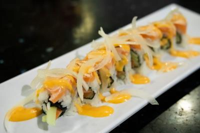 Salmon Tataki Roll!