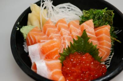 Salmon Ikura Don (L)