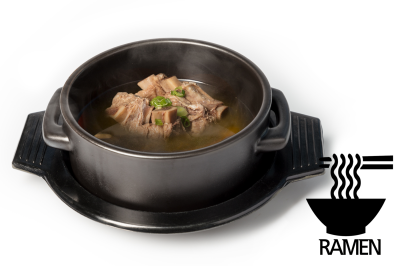G. Beef Meat Soup      Beef Rib & Ramen       갈비곰탕 (라면)
