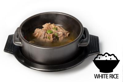 G. Beef Meat Soup      Beef Rib & Rice       갈비곰탕 (밥)