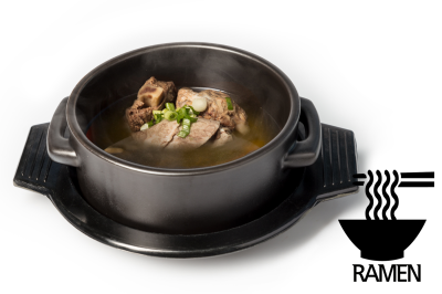 G. Beef Meat Soup       Mixed & Ramen       섞어곰탕 (라면)