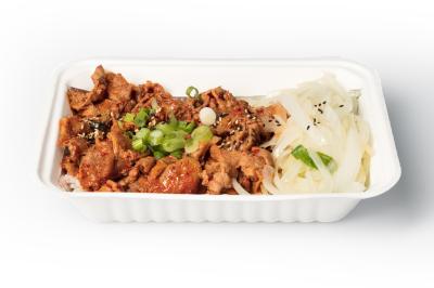 Spicy Pork Bowl     매운 제육 덮밥