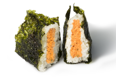 M03. Spicy Salmon Musubi      매운연어 무수비
