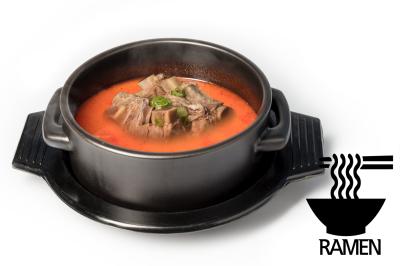 Y. Spicy Beef Bone Soup      Beef Rib & Ramen       갈비육개장 (라면)