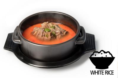 Y. Spicy Beef Bone Soup      Beef Rib & Rice       갈비육개장 (밥)