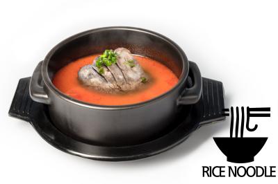Y. Spicy Beef Bone Soup      Brisket Point & Rice Noodle       차돌육개장 (쌀국수)