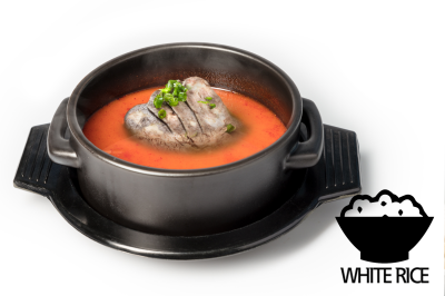 Y. Spicy Beef Bone Soup      Brisket Point & Rice       차돌육개장 (밥)