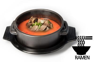 Y. Spicy Beef Bone Soup      Mixed & Ramen       섞어육개장 (라면)