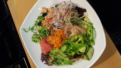 Spicy Sashimi Salad Bowl
