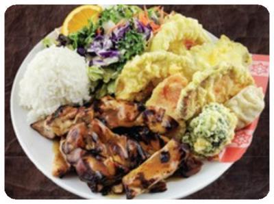 Chicken Teriyaki & Tempura