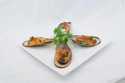 Baked Green Mussel (4Pcs)