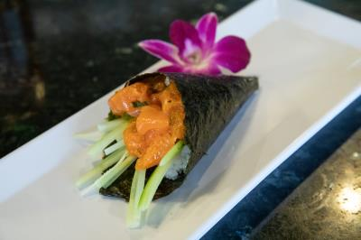 Spicy Salmon (Hand Roll)