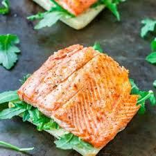 Salmon Steak Sandwich