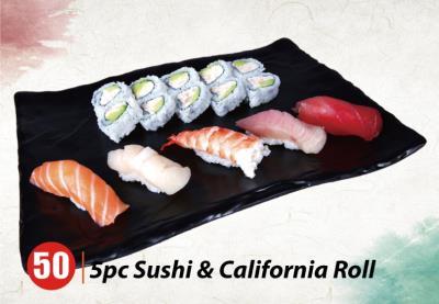 5Pcs Sushi+Cali Combo