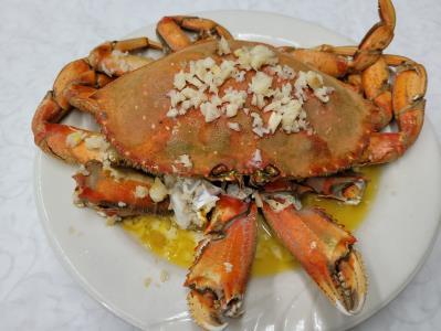 Garlic Steamed Crab