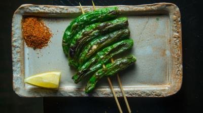 Grilled Organic Shishito Peppers