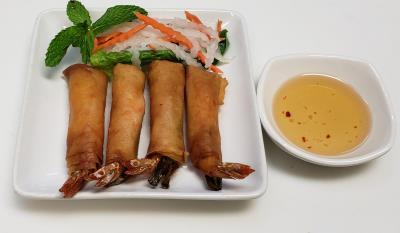 A3. Shrimp Egg Rolls(4-Rolls)