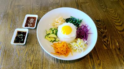 Cs01. Bibimbap (Mixed Veggie With Rice) *very Famous K-Food*