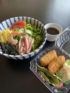 Soba Salad & Inari