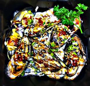 Baked Green Mussel