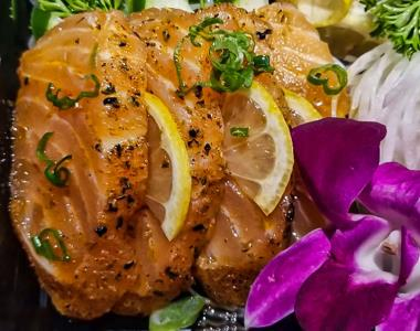 Cajun Salmon - Sashimi 4Pcs