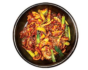 Stir Fried Squid With Noodle (오징어볶음)