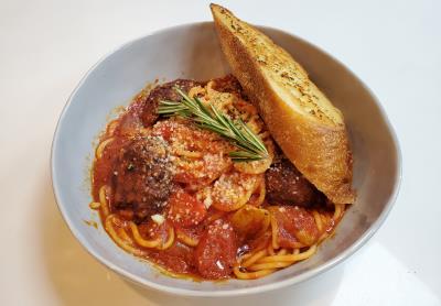 Fried Meatball Pasta