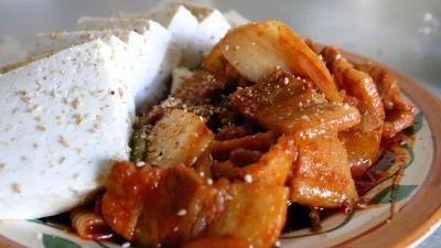 Stirfried Pork Belly & Kimchi