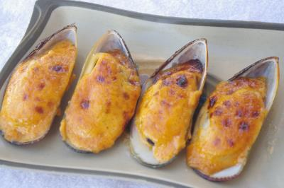 Baked Mussels (6Pcs)