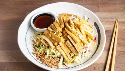 Fried Tofu Cabbage Salad