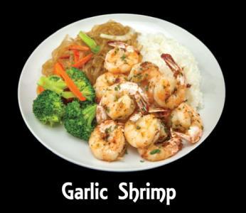 Garlic Shrimp Seafood Plate