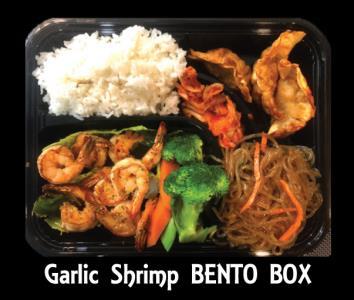 Garlic Shrimp Bento Box