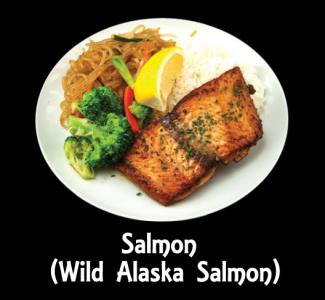 Salmon Seafood Plate