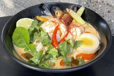 Spicy Tom Yum Seafood Ramen